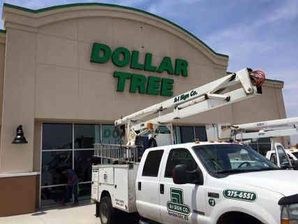 Lighted Sign for Dollar Tree