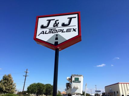 Sign for J&J Autoplex