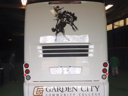 Lettering for GCCC Bus