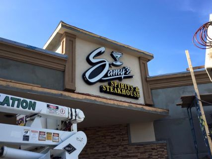 Lighted Sign for Samy's