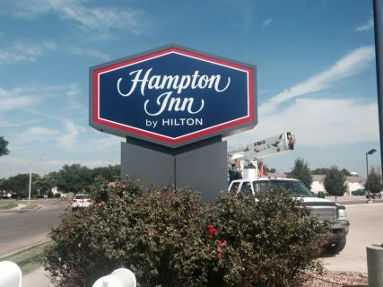 Lighted Sign for Hampton Inn