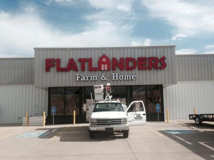 Lighted Sign for FlatLanders Farm and Home